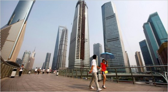 Shanghai Pudong's skyscrapers.