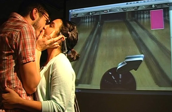 Kiss Controller lets you play a bowling game with your tongue… while it's in someone else's mouth (video)