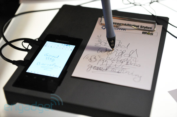 Qualcomm's ultrasonic pen demo transcribes from paper to device (video)