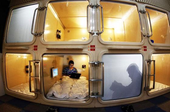 Shanghai first capsule hotel.