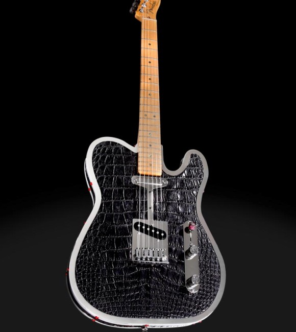 The $85,000 Custom Diamond & Alligator Guitar
