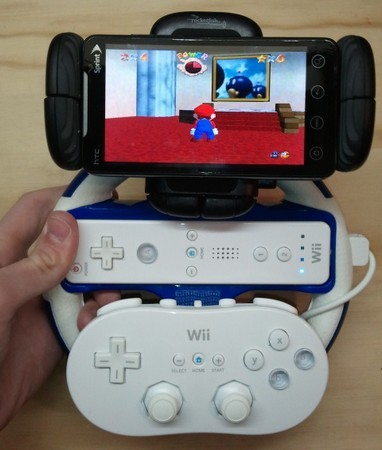 EVOtainment System gives brings emulation to the HTC EVO on a Wiimote and a prayer