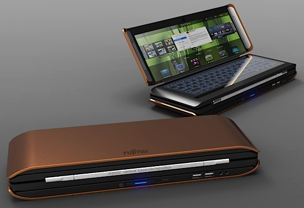 Conceptual Fujitsu Lifebook X2 folds into quarters, makes regular notebooks look lame