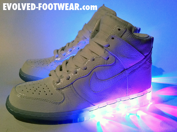 Evolved Footwear: White 'Technicolor' Nike Dunk High Custom
